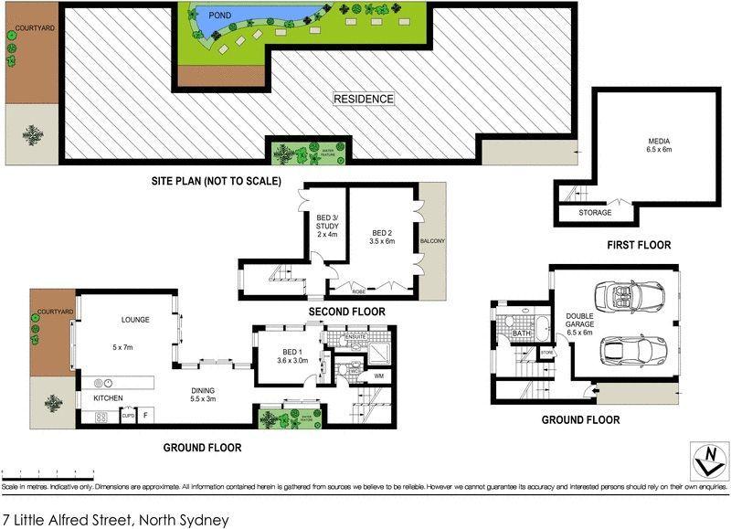 7 little alfred street north sydney nsw residential for Kirribilli house floor plan