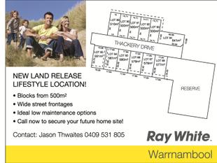 New Land Release! Lifestyle Location! - Warrnambool