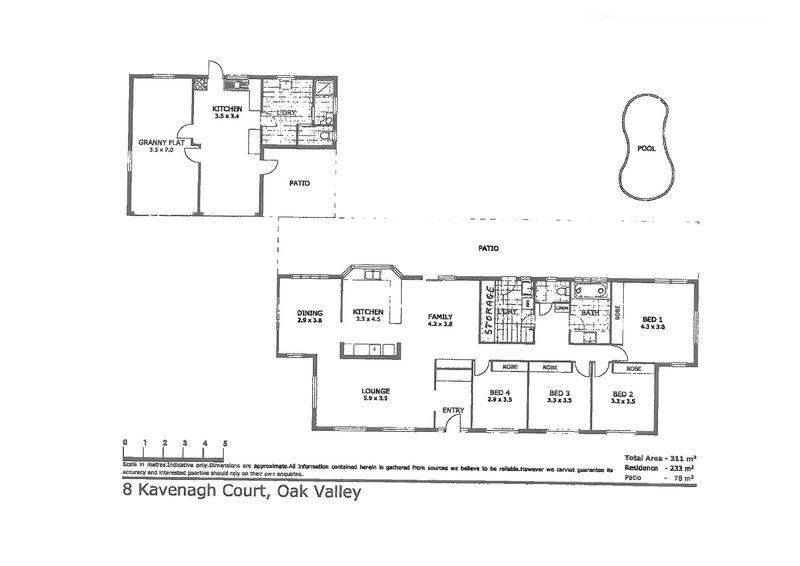 8 kavenagh court oak valley qld residential house sold for 11 brunel crt floor plan