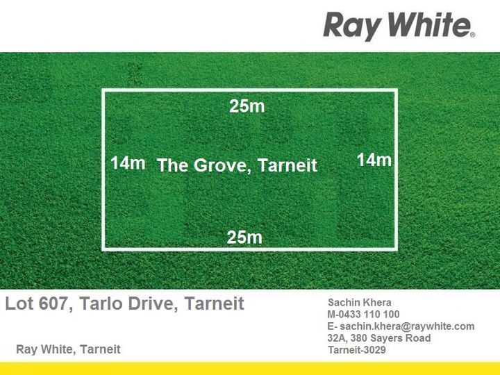 LOT 607 Tarlo Drive, Tarneit, VIC