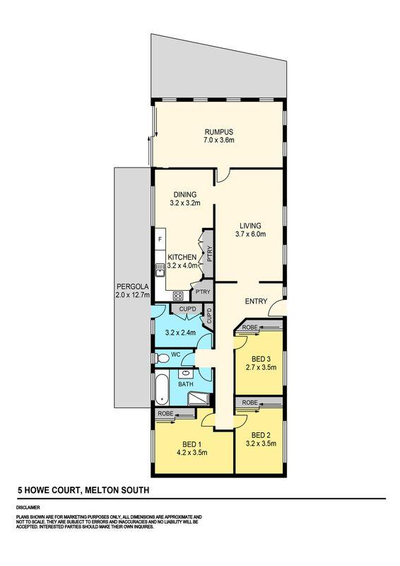 5 howe court melton south vic residential house sold for 11 brunel crt floor plan