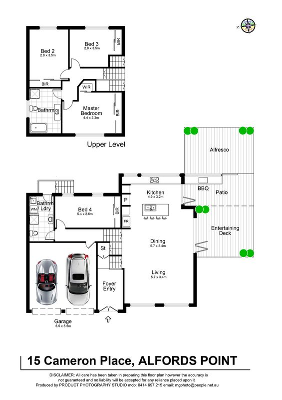 15 cameron place alfords point nsw residential house sold for 15 dunham place floor plans