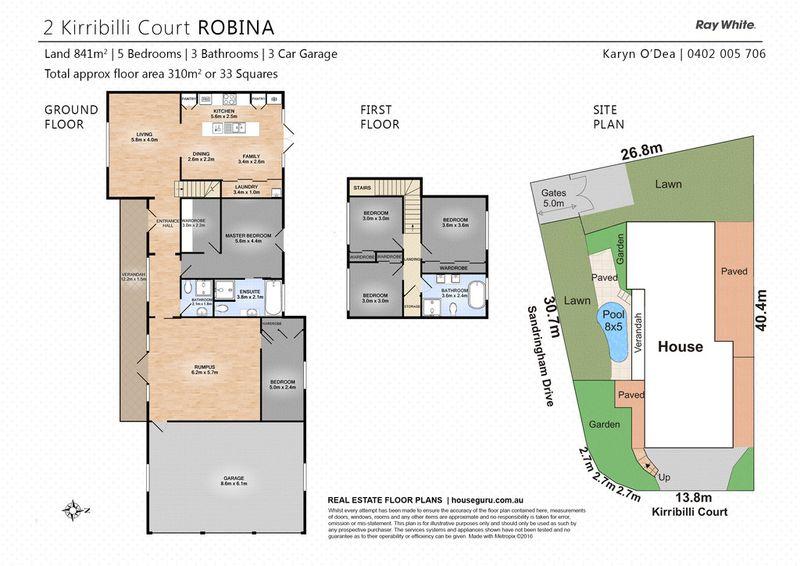 2 kirribilli court robina qld residential house sold for Kirribilli house floor plan