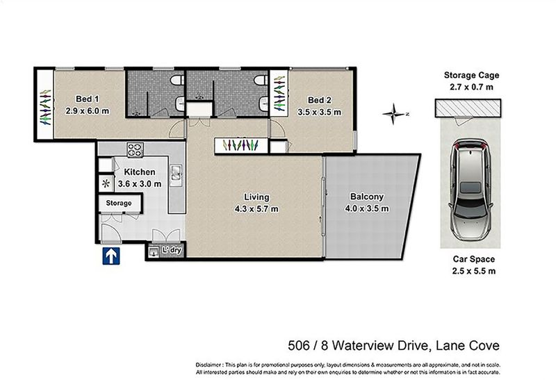 506 8 waterview drive lane cove nsw residential unit sold for 16 brookers lane floor plans