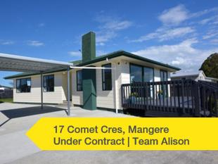 UNDER CONTRACT - Mangere