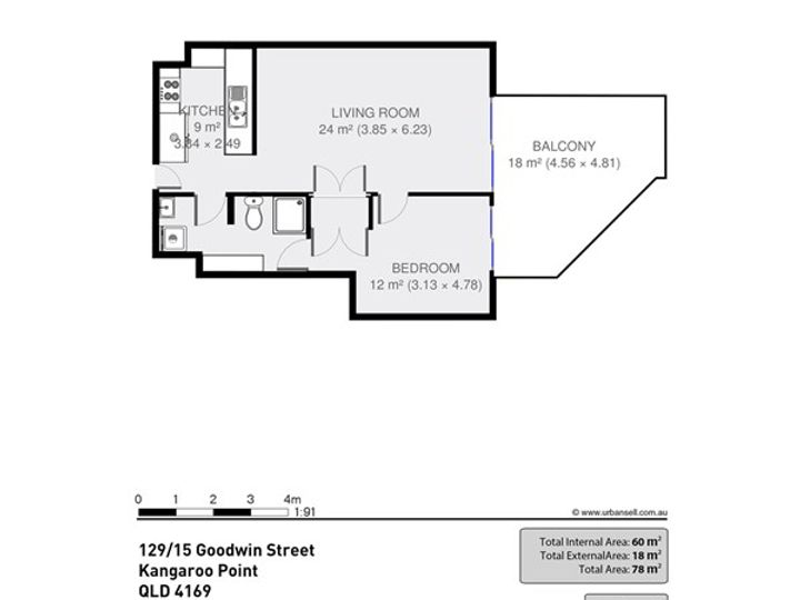 Unit 129/15 Goodwin Street, Kangaroo Point, QLD