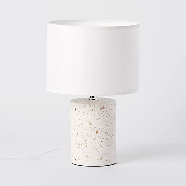 Table Lamp Featuring A Concrete Look Base Switch On Cord And Felt Bottom To Help Prevent Slipping The Trend Design Will Perfect In Any Room