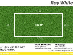 Perfectly Rectangular 512 sqm Block of Land !! - Truganina